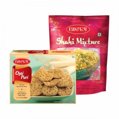 Bikaji Chai puri and Shahi mixture combo
